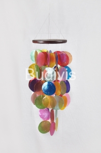 Multi Color Small Capiz Wind Chimes