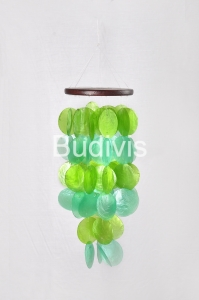 Green Small Capiz Wind Chimes
