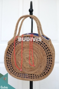 Best Model Natural Color Rattan Handwoven Hand Bag