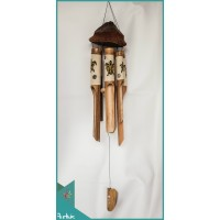 Affordable Bird House Garden Hanging Hand Painted Turtle Bamboo Wind Chimes