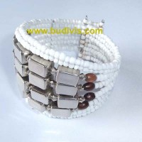 Affordable Wire Choker Beaded Bracelet
