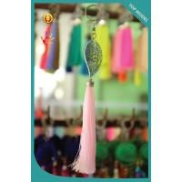 Art Leaf Tassel Keychain