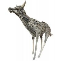 Cow Decor Recycled Driftwood